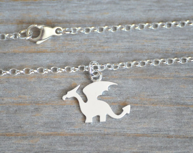 Dragon Bracelet, Dragon Anklet In Solid Sterling Silver, Handmade In England