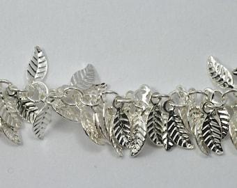 Bright Silver, 4mm x 6mm Leaf Chain #CC158