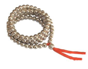 8mm Metal 108 Beads Mala (Necklace)