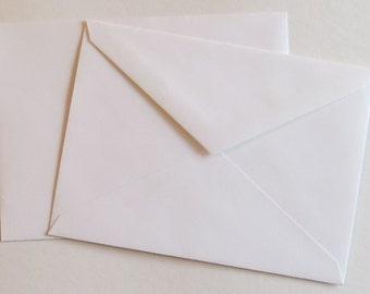 PPE42  Qty. of 50 A7 70 lb. White Paper Envelopes 5 1/4 x 7 1/4 (13.34cm x 18.42cm)
