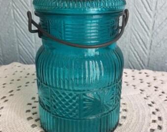 Vintage Avon Blue jar with lid