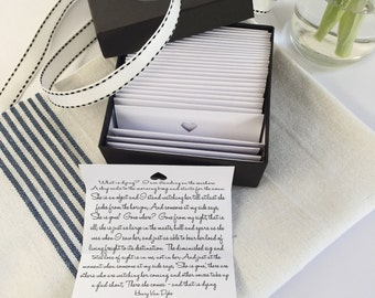 Sympathy Gift: 30 Comforting Quotes Boxed Gift Set - Remembrance, Condolence, Bereavement.