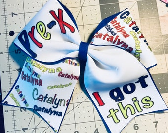 Cheer bow, back to school bow, back to school cheer bow, back to school bows, cheer bows, custom cheer bows