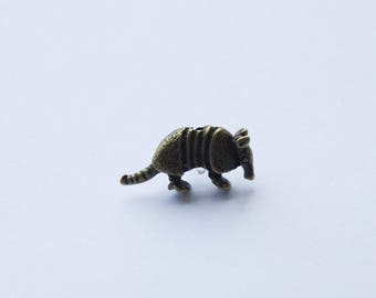 Armadillo Pin, Armadillo Tie Pins, Novelty Tie Pin, Armadillo Tie Tack, Father's day gift, Armadillo Gift, Texas Suit Accessories, Dad gift