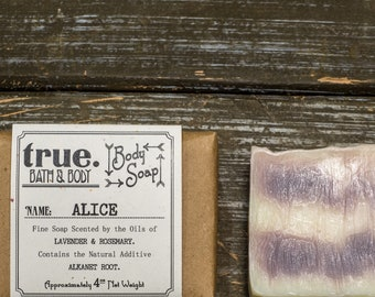 ALICE Body Soap | Organic Soap | Vegan Soap | Natural Soap | Handmade Soap | Cold Process Soap | Soap for Sensitive Skin