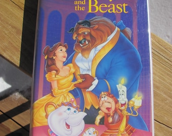 Vintage Disney's Beauty and The Beast VHS, Black Diamond Edition
