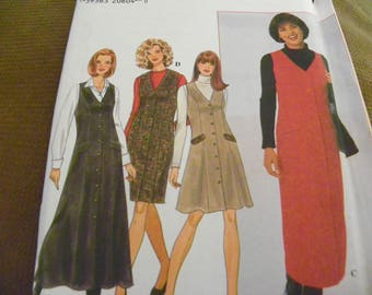 Sewing Pattern - Simplicity 7759 - Misses' Jumper - Size HH 6 - 8 - 10 - 12 - Dress
