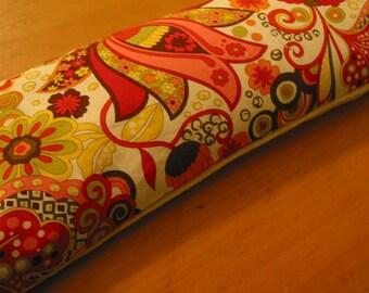 Flax Heating\/Cold Pack, Organic Bamboo Velour, Retro Print