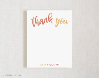 Personalized Note Card Set // Thank You  // Children's Stationery