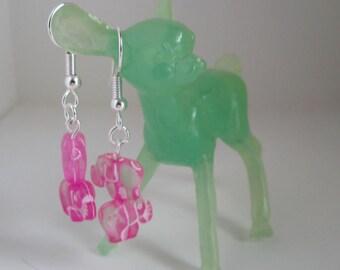 Super Cute Bubblegum Pink Elephant Earrings