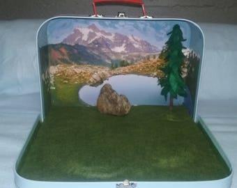 Mountain Meadow Suitcase Scene