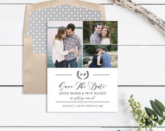 Photo Save the Date Card - Photo Save the Date Magnet - Photo Save the Date Postcards - Save the Date Printable