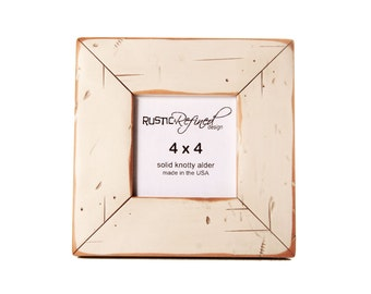 4x4 Cabin picture frame - Off White, Free Shipping