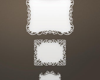 Ultimate Crafts. Nested Labels Set, Scrapbooking, Card Making, Home Decor, Mixed Media, Mini Album