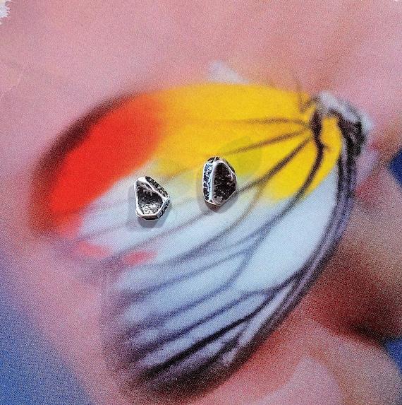 silver studs earrings | oxidized earrings | everyday earrings | unique small studs