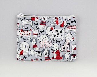 White Dogs Coin Purse - Coin Bag - Pouch - Accessory - Gift Card Holder
