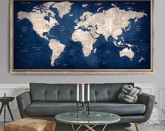 World map poster etsy large world gumiabroncs Image collections