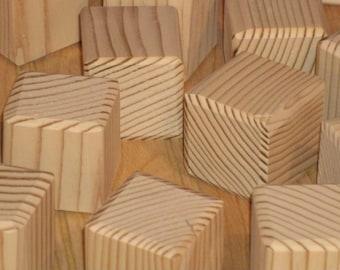 "26 wooden blocks 1 1/2"" unfinished, toy blocks-alphabet blocks-Baby blocks-wood blocks-baby shower activities-craft blocks"