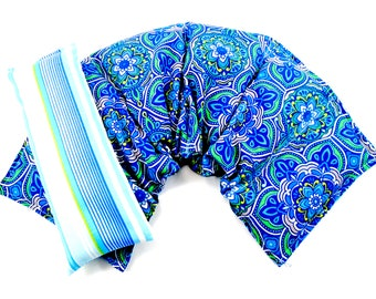 Therapy Gifts: Wide Neck Shoulder Wrap /Eye Pillow Set, Hot Cold Therapy, , Microwavable,Heat Pack,Heating Pad Gift Idea