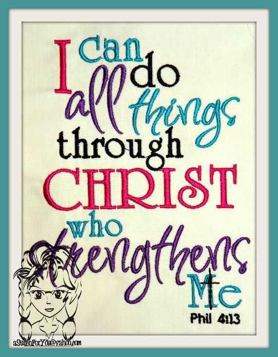 i can do all thing's through christ