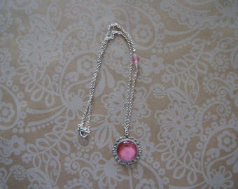 Hand painted pink necklace