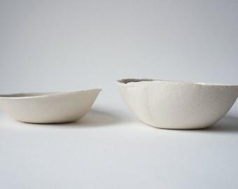 """BW(Short) """"Bowl"""" White (Linen)"""
