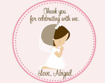 First Communion Favor Tags - Tags Only / 1st Communion Favors - Girls first communion