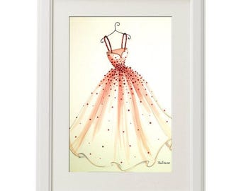 ORIGINAL Fashion Illustration-My Dress