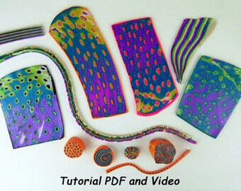 Polymer Clay Tutorial, Monume Gane Tutorial, Polymer Clay Cane, Polymer Clay Design, Polymer Clay Class, Polymer Clay Course PDF and Video