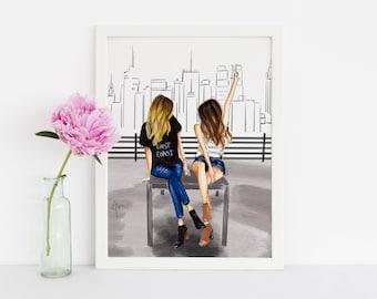 Cityscape (Fashion Illustration Print) (Fashion Illustration Art - Fashion Sketch prints - Home Decor - Wall Decor )