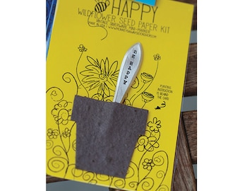Bee Happy Wildflower Seed Paper Kit (E0426)