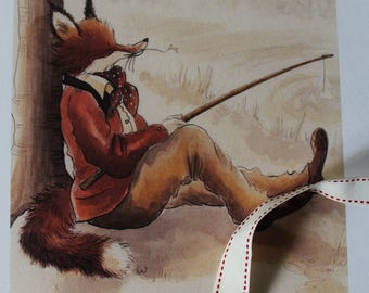 Far from the madding crowd - fox print by Leila Winslade of Farcical Foxes