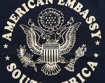 Vintage American embassy south Africa shirt-US Embassy
