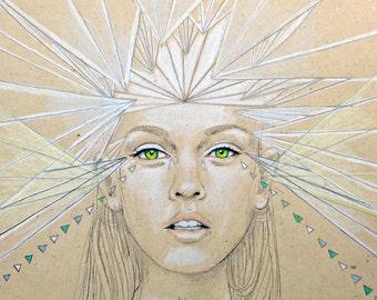 Large Print of illustration - drawing - Luminosity