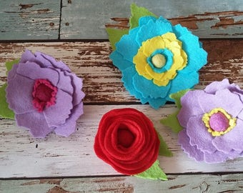 Flower Brooch, felt flower,brooch,flowers,floral brooch, accessory,large flower brooch