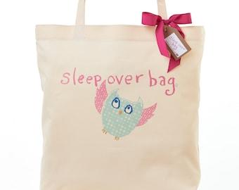 Childs Owl Sleepover Bag Overnight Bag Girls Hand Luggage Sleep Over