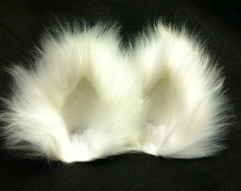 Cat Ears /Cat Ears and Tail / Assorted Color Fuzzy Kitty Cat Ear Clips with/with out Tail