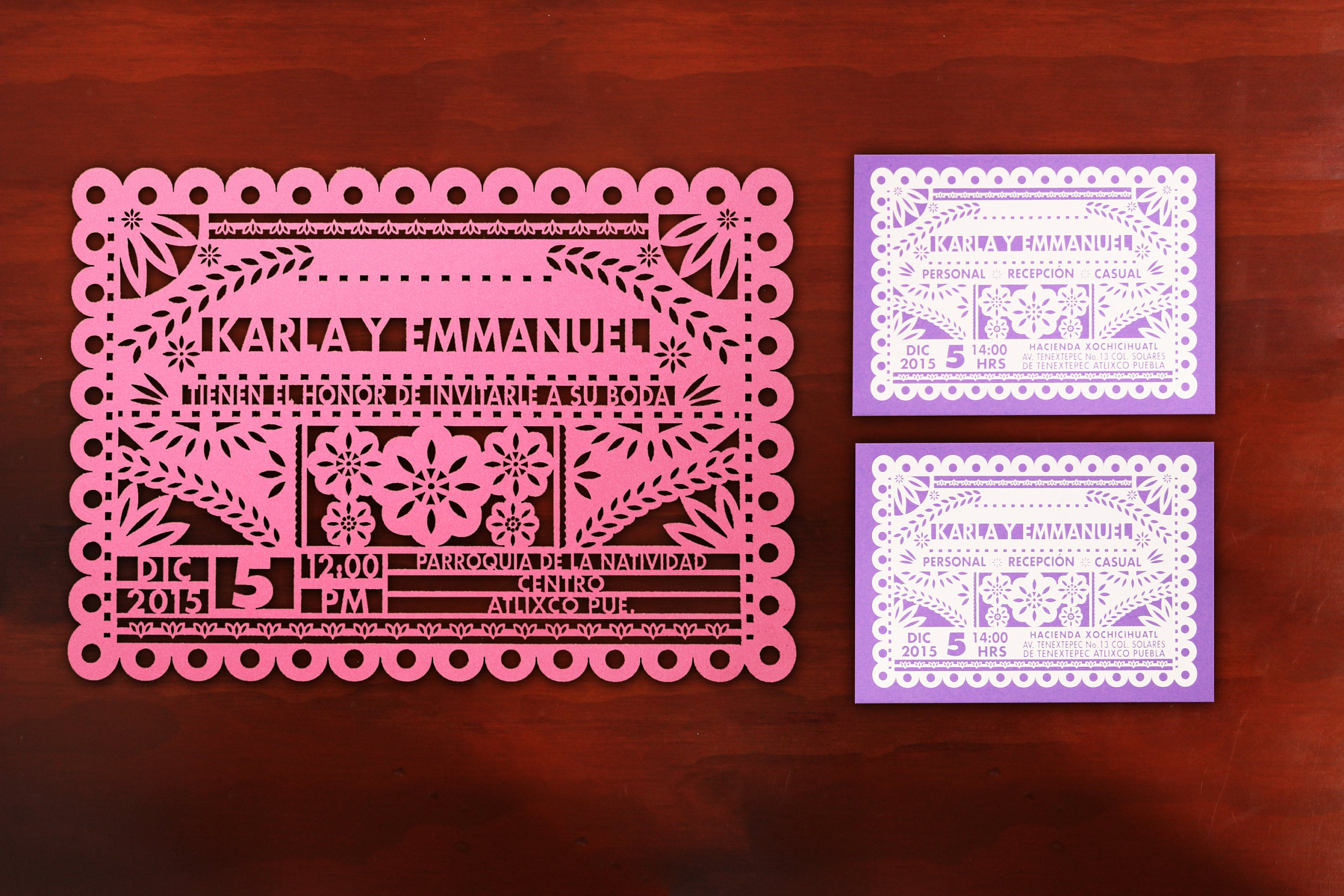 Mexican Style Wedding Invitation SUITE