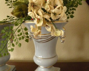 Pair Blue and Gold Beautiful Estate find Vases