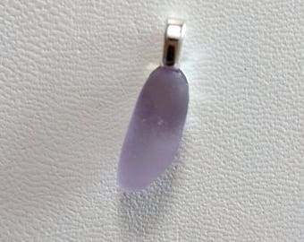 Purple - lavender Sea Glass Pendant