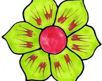 Flower Green- Family Window Art