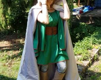 Hooded (furred) cloak