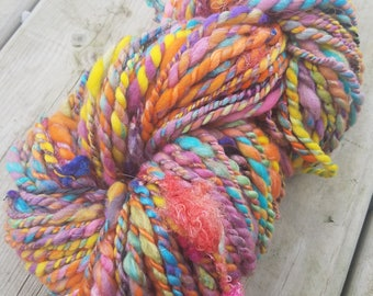 Handspun 2 Ply Super Bulky Art Yarn