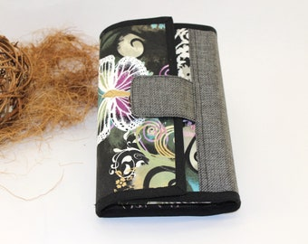 Companion fabric black butterflies, leaves, checkbook, gate cards, worn coin, door documents