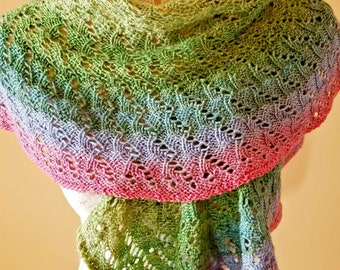 Lace Knit Spring Shawl