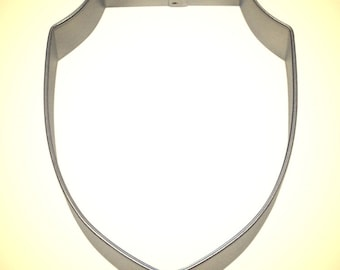 """Shield Plaque cookie cutter, 4"""",  Knight's shield cookie cutter, medieval Cookie cutter, Knights head gear, Badge cookie cutter,"""