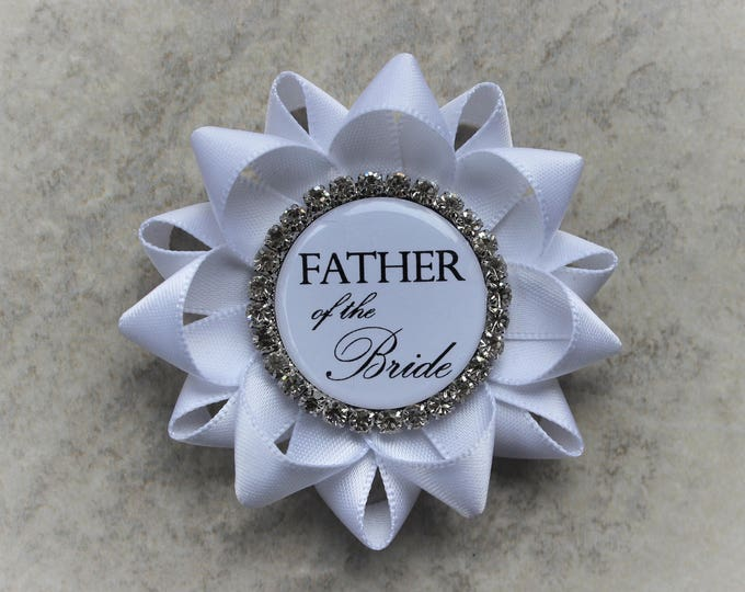 Father of the Bride Pin, Couples Bridal Shower, Father of the Bride Boutonniere, Grandfather of the Bride, Father of the Groom Gift, Uncle