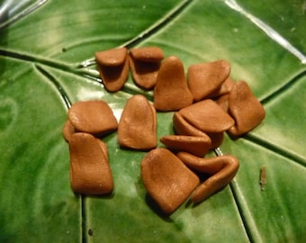 """Medium 3/8"""" Beaks  - qty 8  - these can be used for my patterns or for your own designs."""