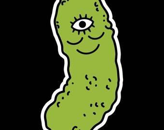 Woke Pickle Sticker