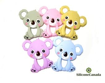 Large Koala Teether BPA Free FDA approved EN71 Passed CPSIA pass Baby Safe Teething Toy Wholesale Bulk Canada Baby Shower Gift